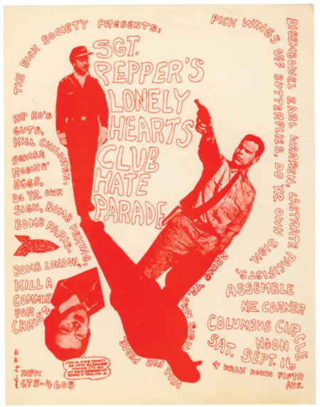 Up Against the Wall Motherfuckers flyer, New York 1967