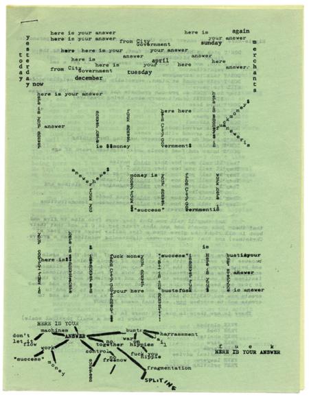 Diggers_Communication Company, folleto, 1967